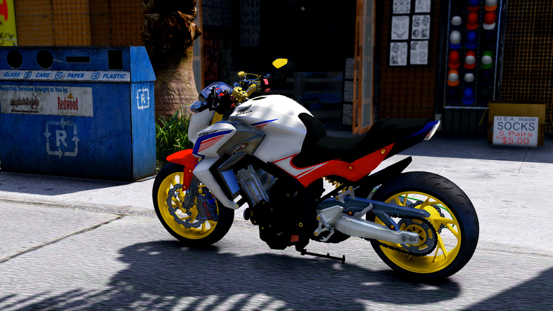 honda cb650f th gta5. Black Bedroom Furniture Sets. Home Design Ideas