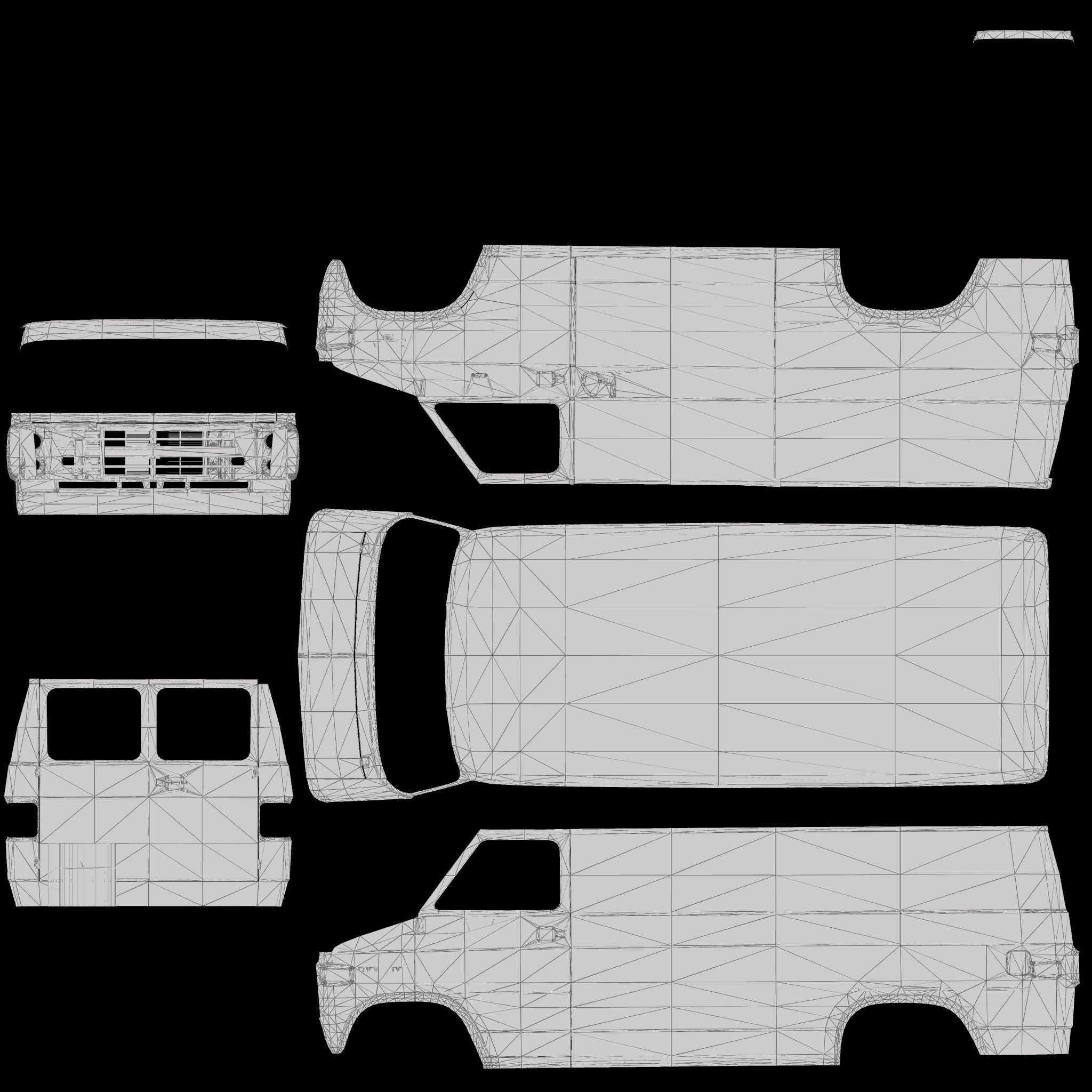 Chevrolet G20 Construction (Wipers)(Animated)(Template
