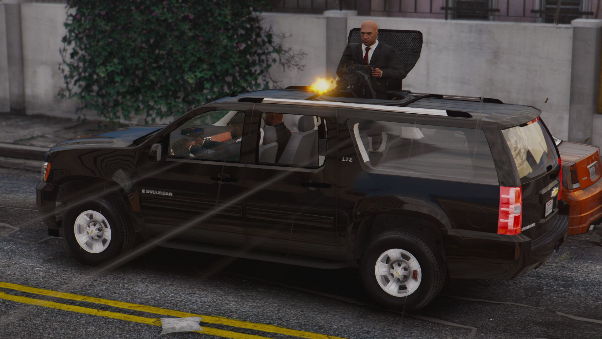 Chevrolet Suburban with pop-out Gatling Gun [Wipers] - GTA5
