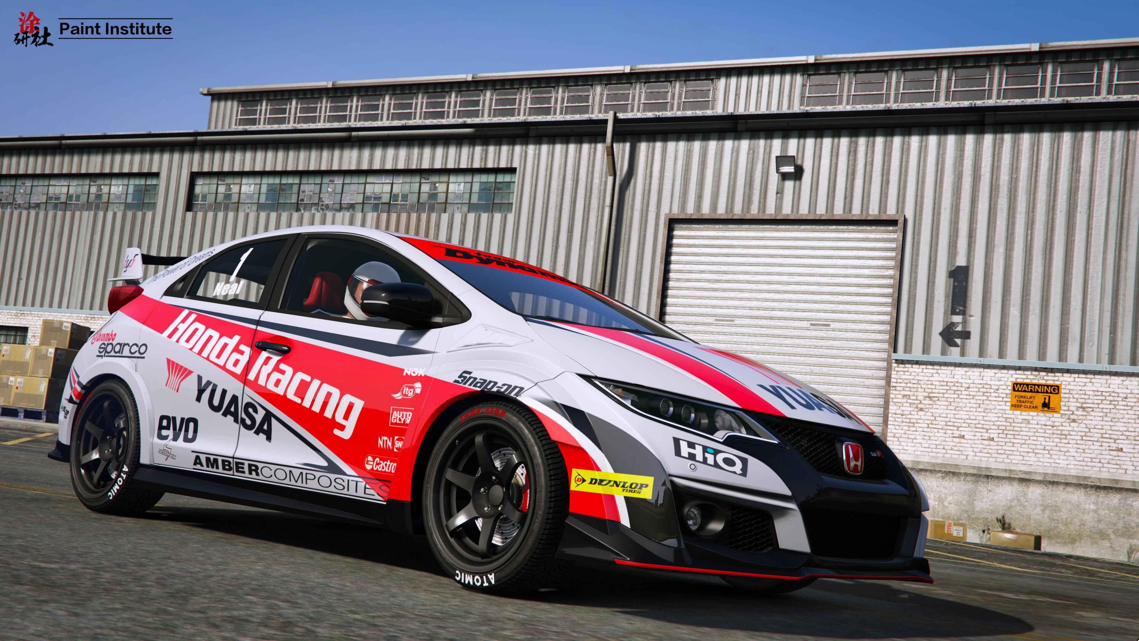 Honda civic type r race fiat world test drive for Honda civic race car