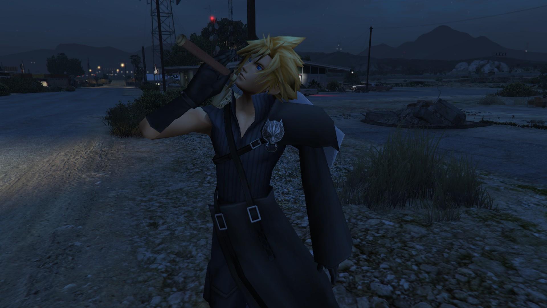 Cloud Strife and Sephiroth Final Fantasy VII GTA5 Mods