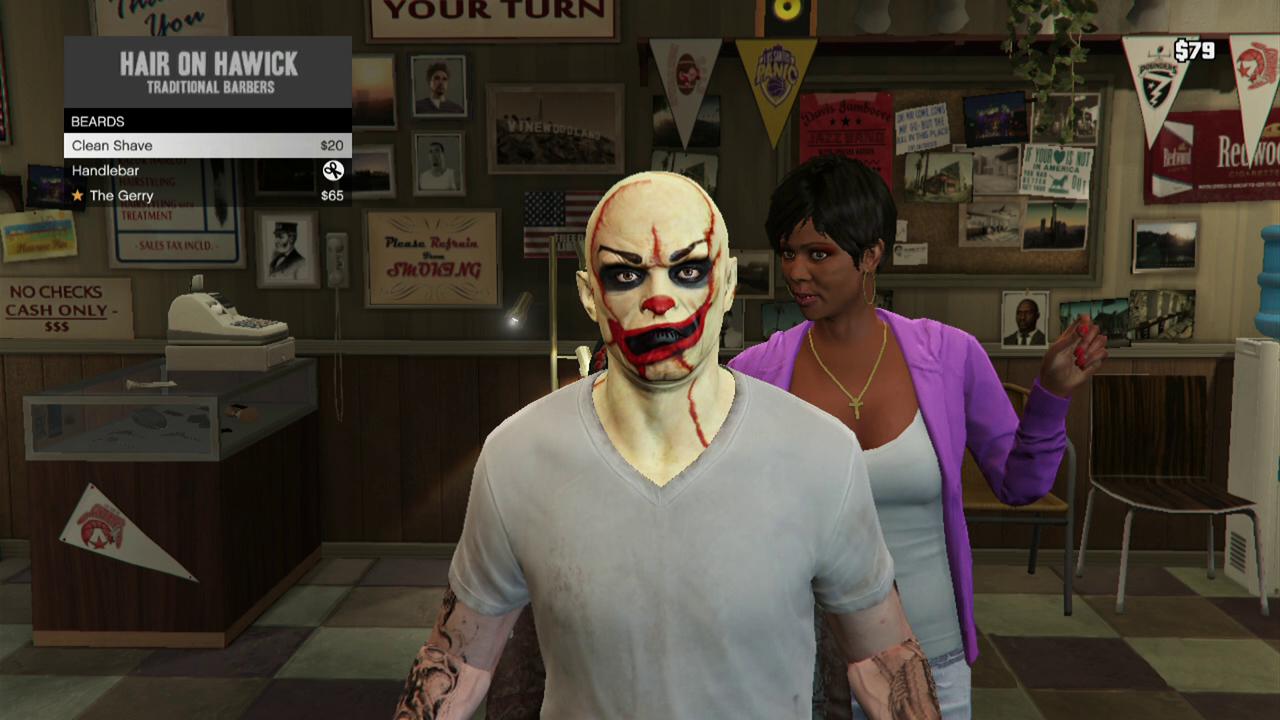 Gta  Online Clown Face Paint