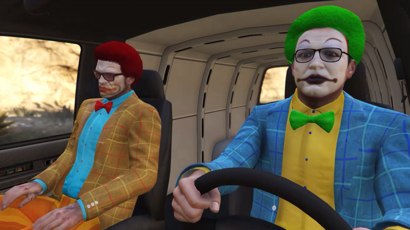 U0026quot;The Sharmoota Jobu0026quot; Clown Outfits for Michael and Trevor - GTA5-Mods.com