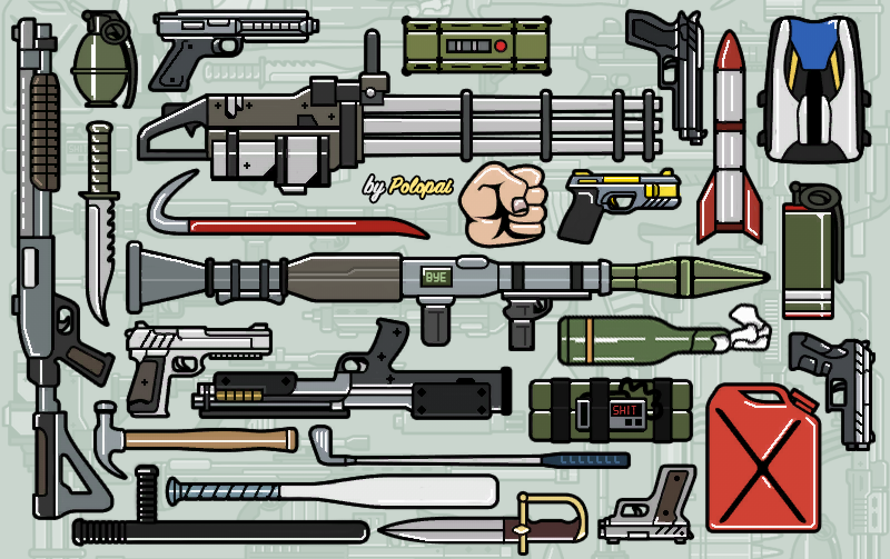 Colored Weapon Icons