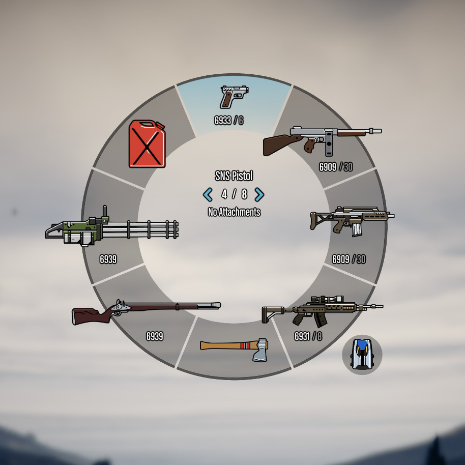 Coloured Radio And Weapon Icons (2018)