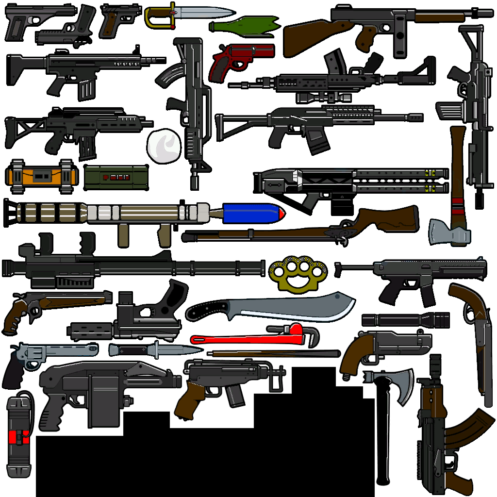 Coloured Weapon Icons