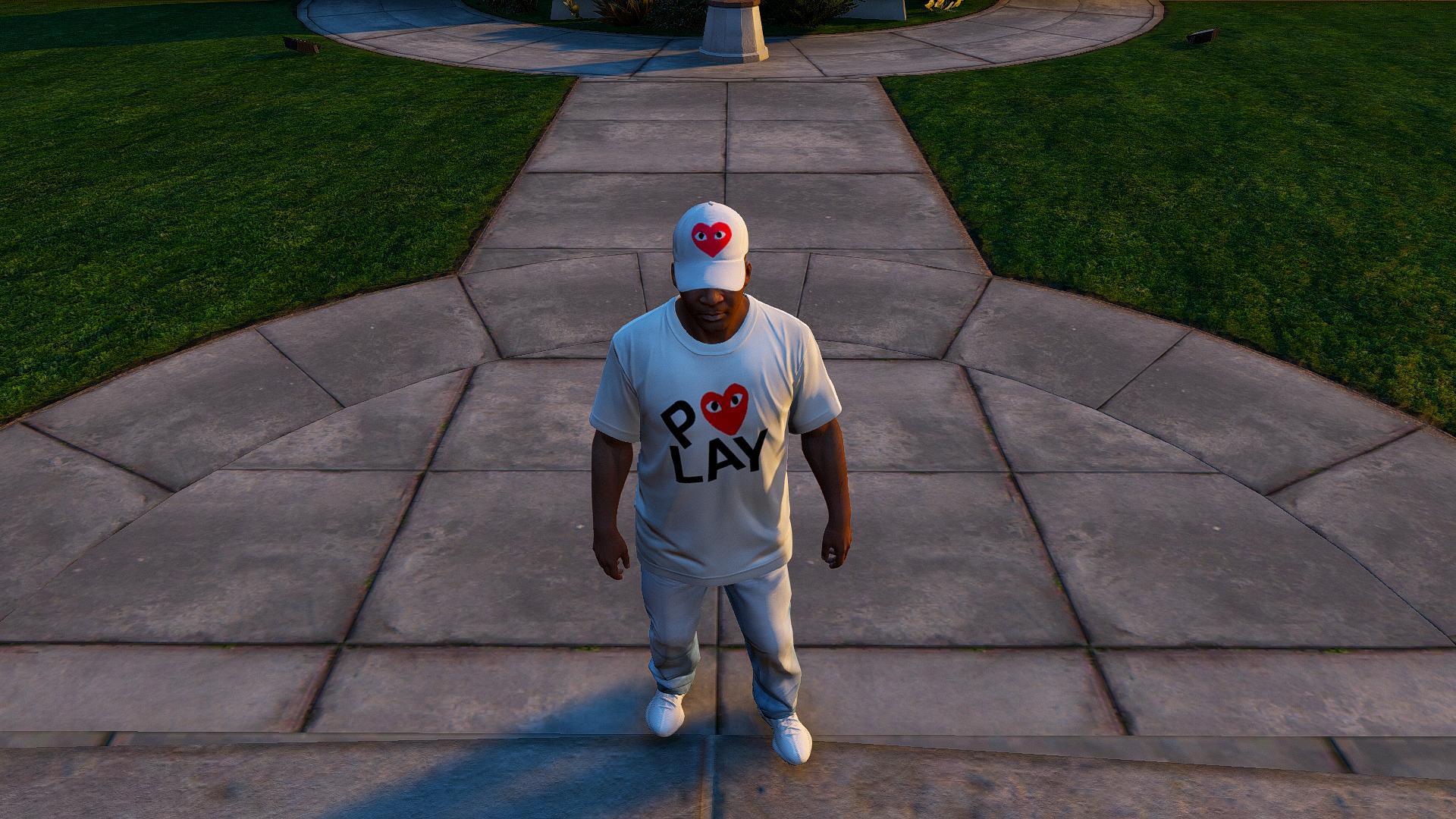 Comme Des Garcons Play T Shirt Pack Gta5 Modscom