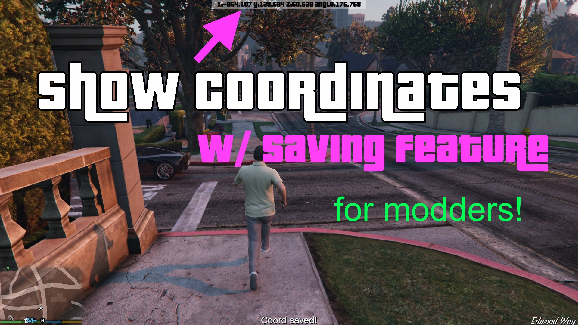 Show Coordinates w/ saving feature [ NET] - GTA5-Mods com