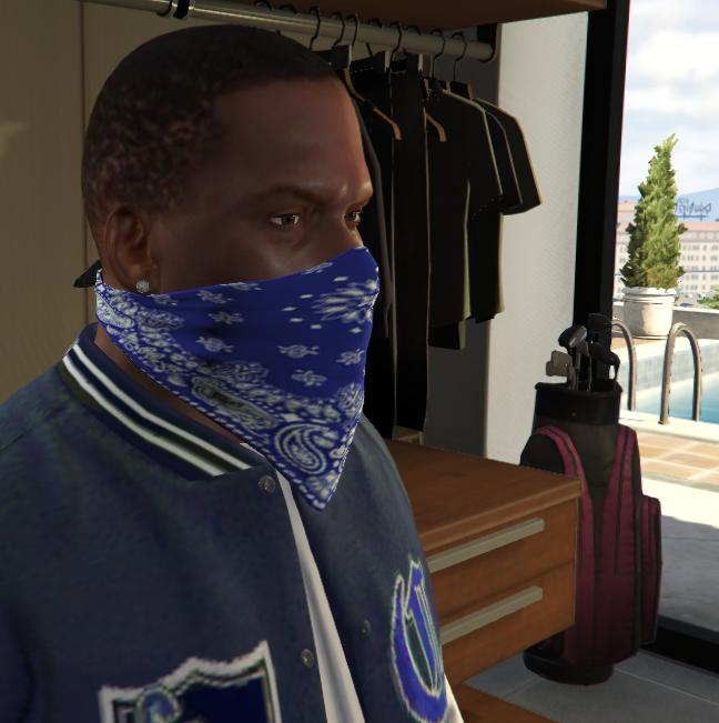 Crips Gang Clothes For Franklin Gta5 Mods Com