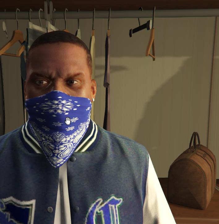 Crips Gang Clothes for Franklin - GTA5-Mods com