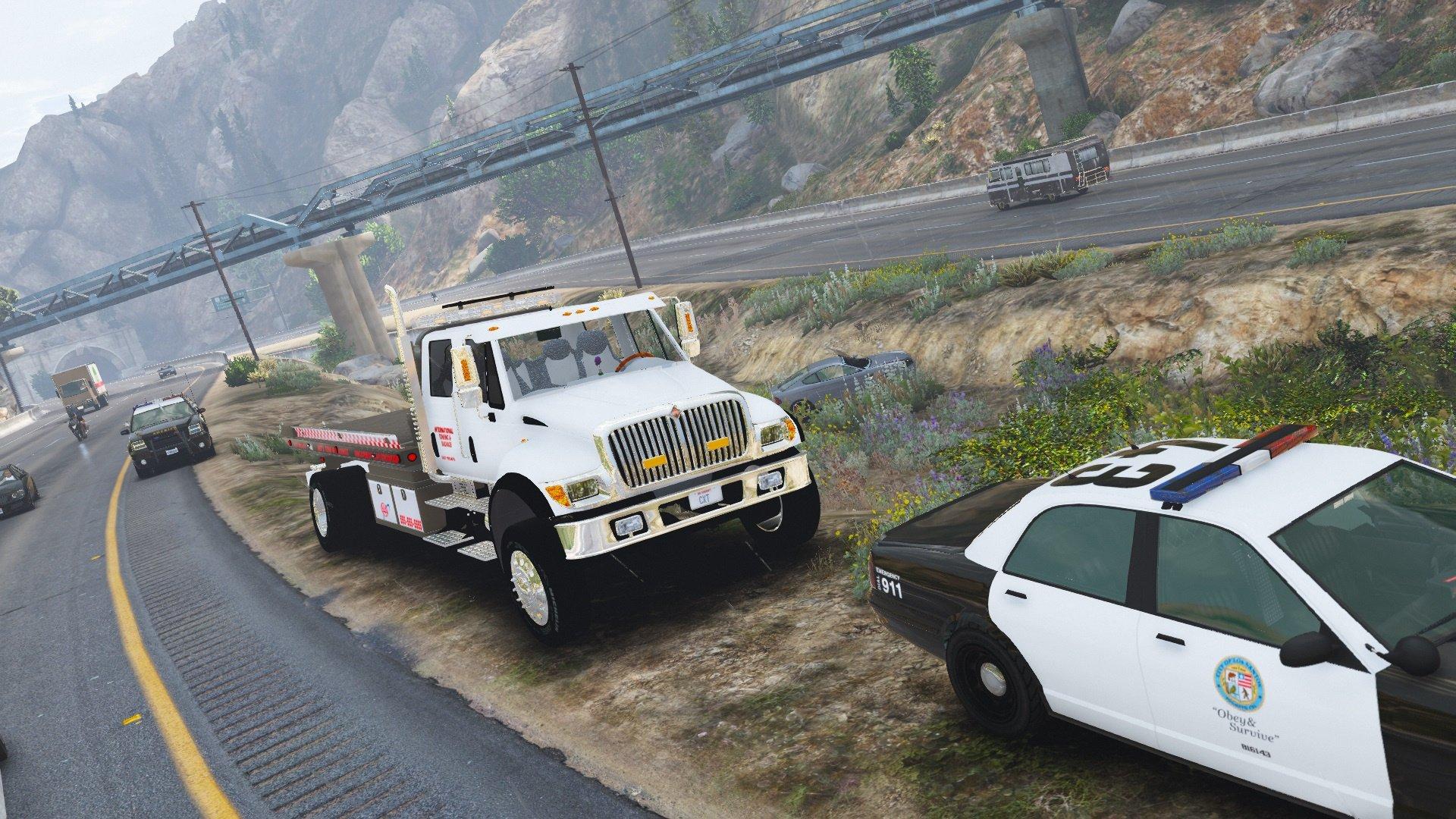 CXT flatbed tow truck [ELS] [Addon/Replace] - GTA5-Mods com