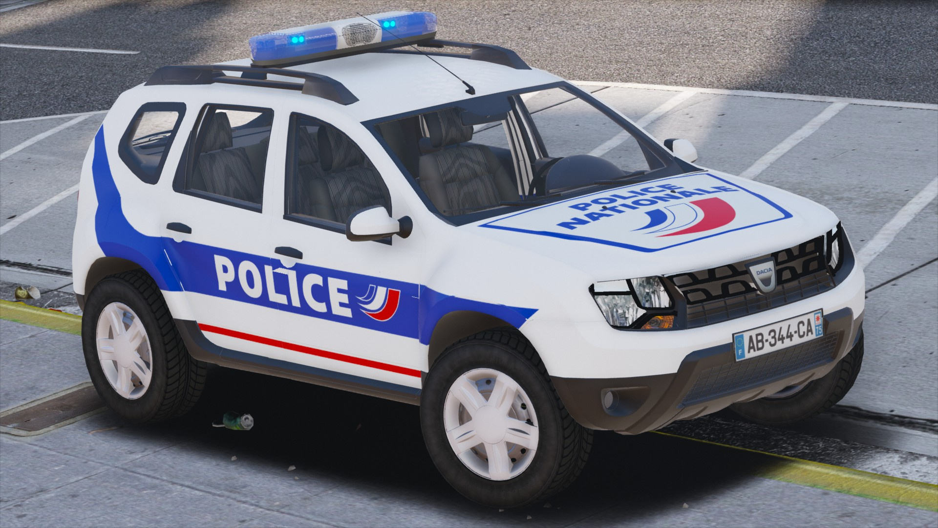 dacia duster police nationale els gta5. Black Bedroom Furniture Sets. Home Design Ideas