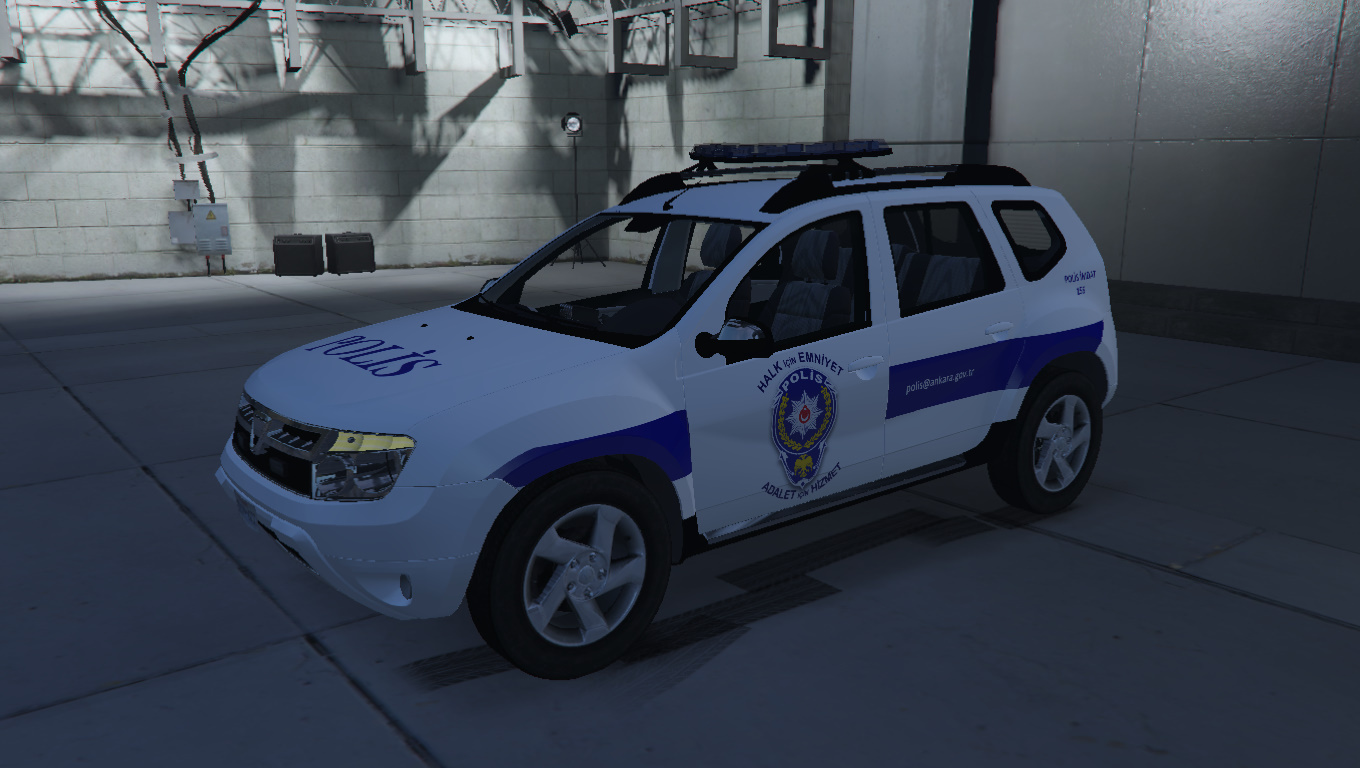 dacia duster t rk polis arabas l 2017 gta5. Black Bedroom Furniture Sets. Home Design Ideas