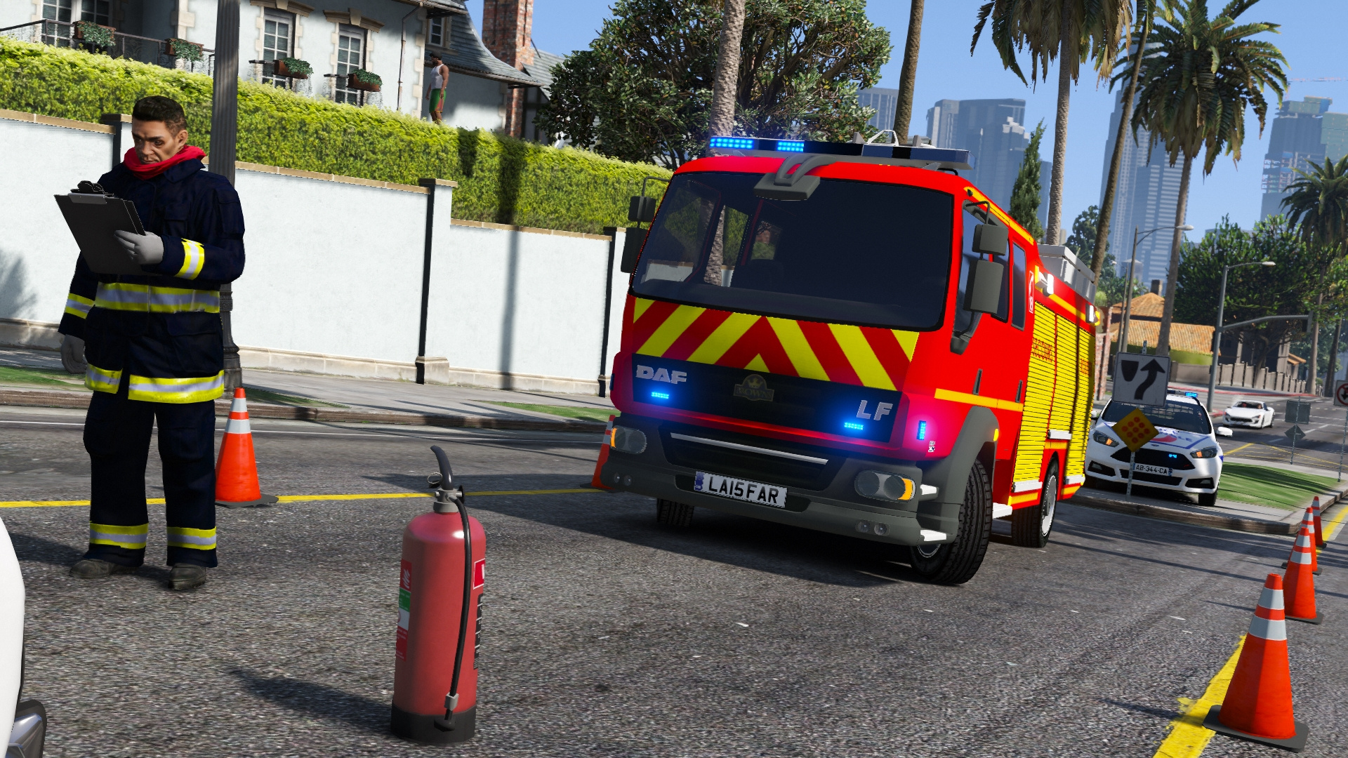 daf v hicule de secours routier des sapeurs pompiers gta5. Black Bedroom Furniture Sets. Home Design Ideas