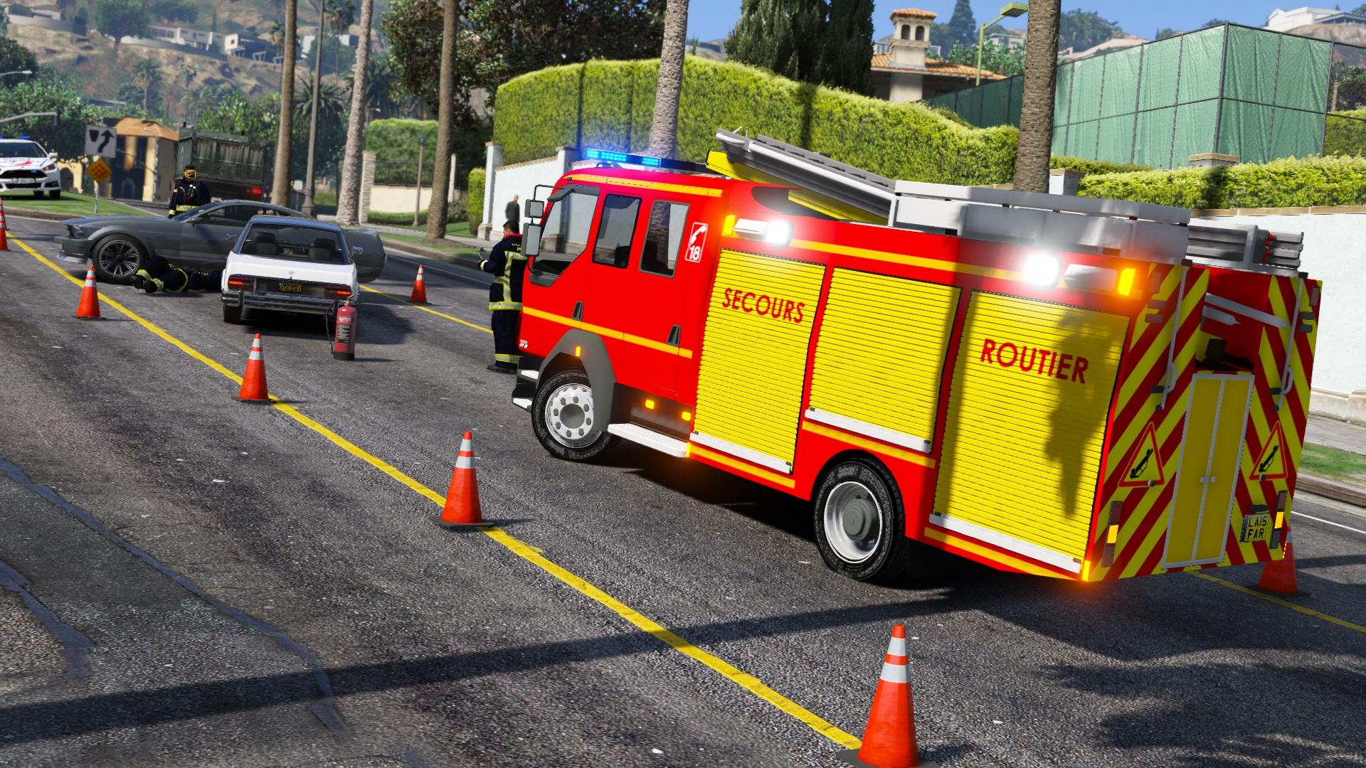 Daf v hicule de secours routier des sapeurs pompiers gta5 - Cone de lubeck ...