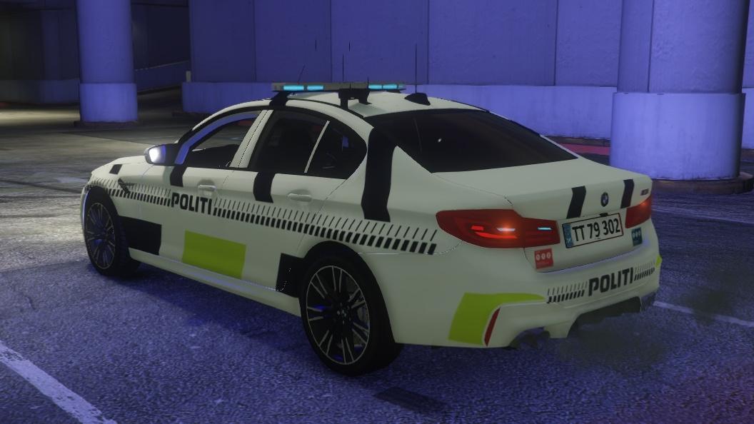 Danish Police - BMW M5 [PAINTJOB] [ELS] [ADD-ON] [FiveM] - GTA5-Mods com
