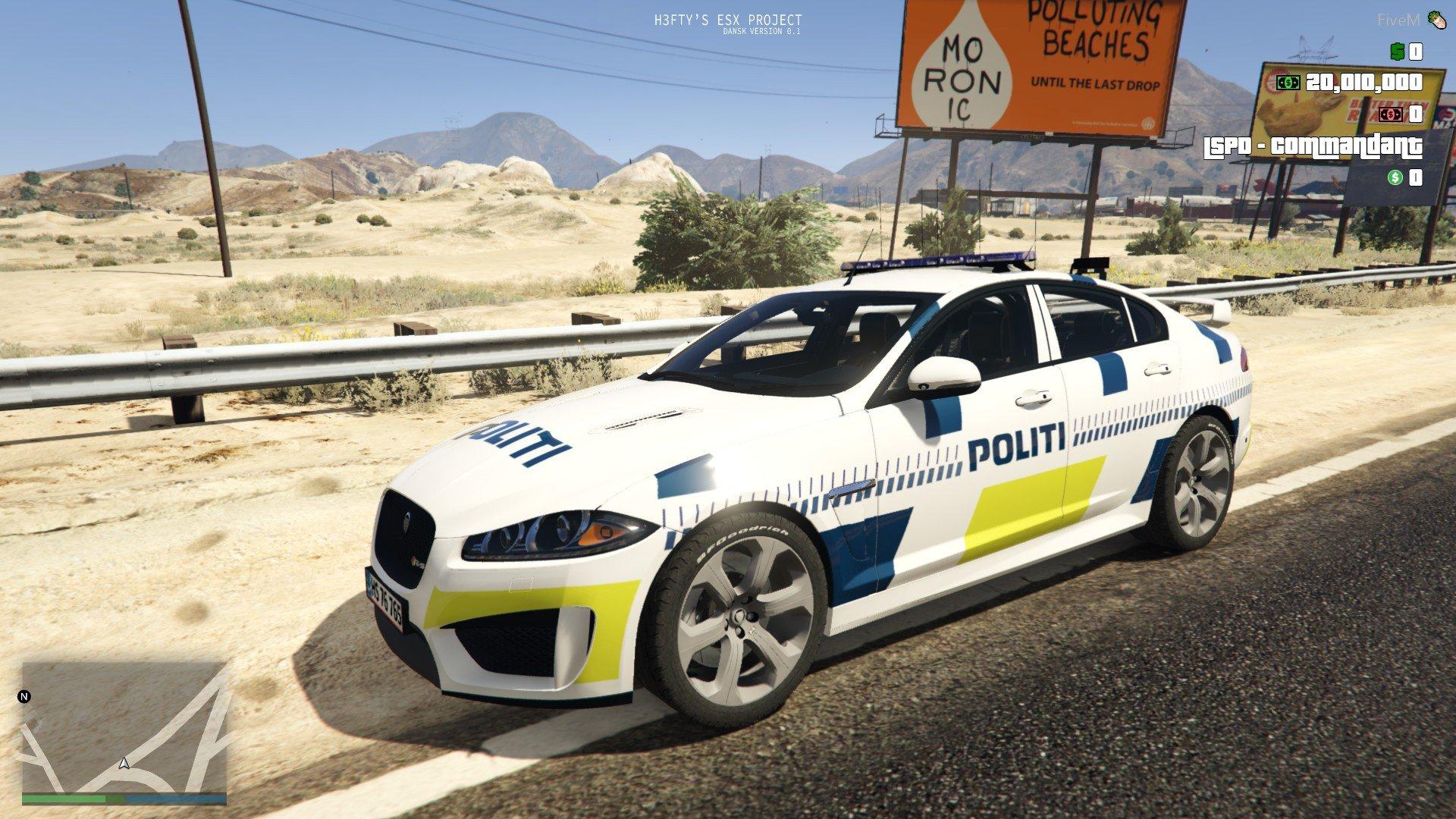 Danish Police - Jaguar XFR [ELS] [ADDON] [FiveM] - GTA5-Mods com