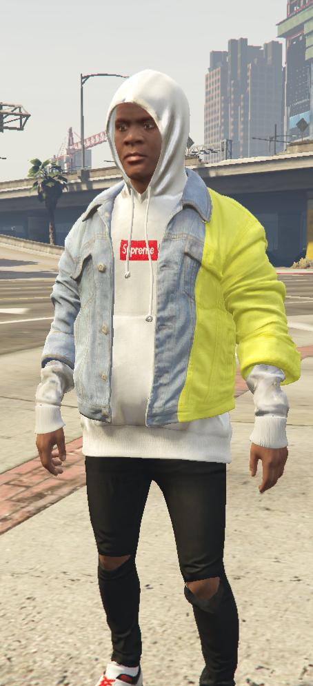 Denim Jacket And Inside Hoodie Gta5 Mods Com