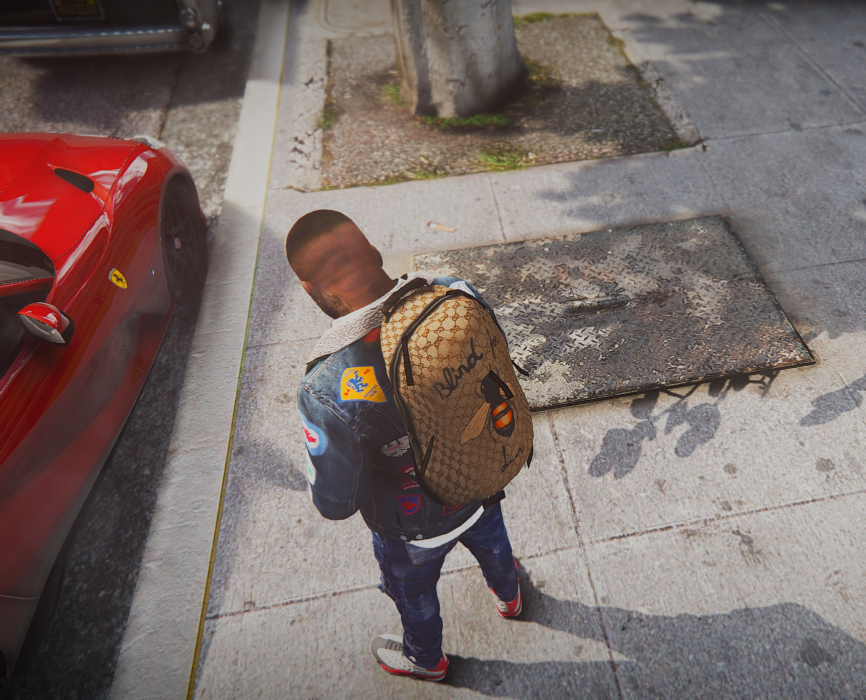 124cdf16e4d1 Designer Clothes Pack v1 ( + 2 Bonus Gucci Backpacks ) - GTA5-Mods.com