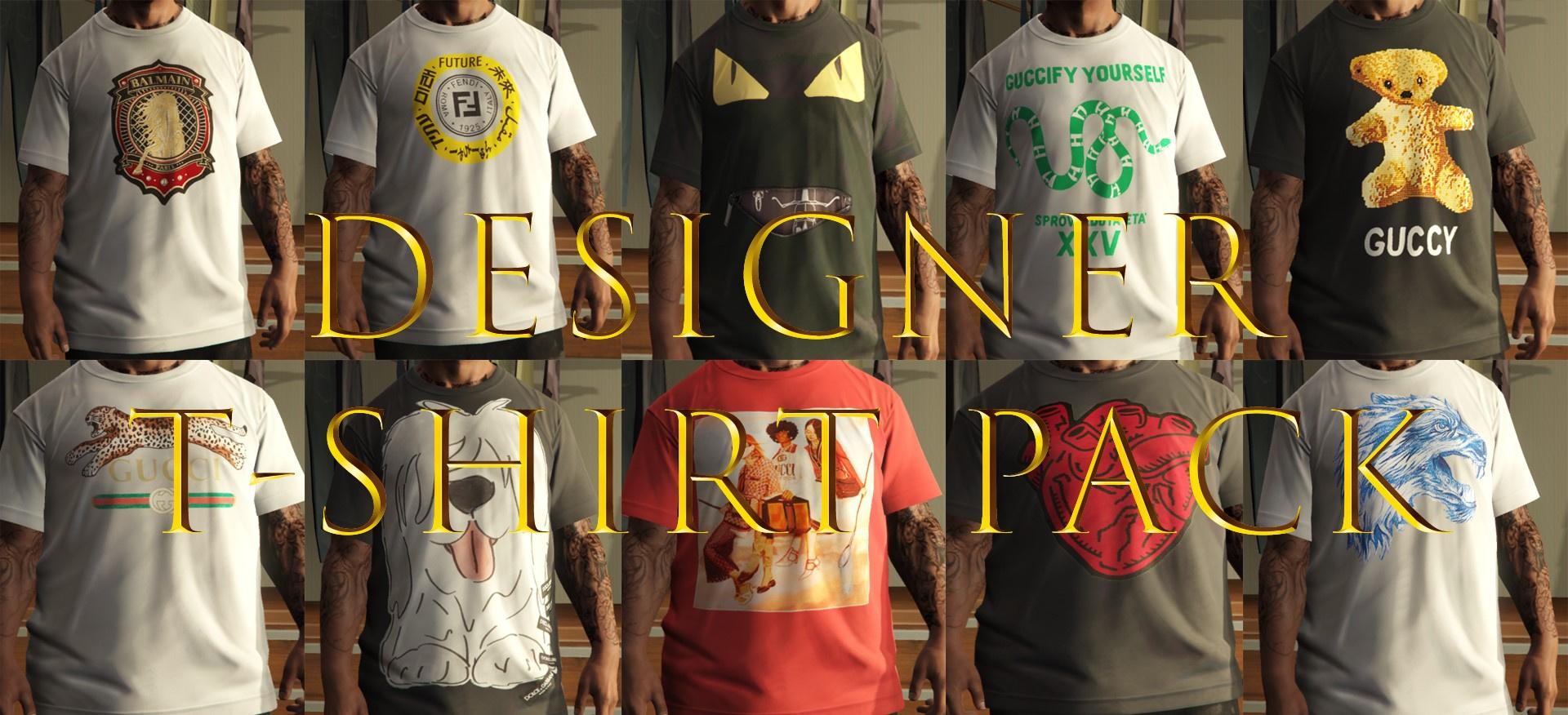 be480923e977 Designer T-Shirt Pack (Gucci