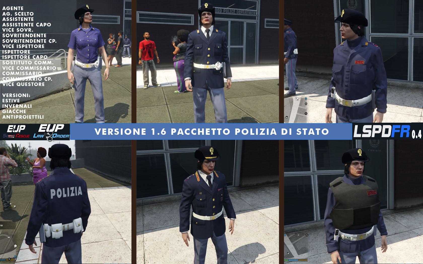 Divise italiane EUP per LSPDFR 0 4 - Italian uniforms - GTA5
