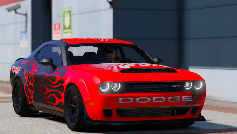 Dodge Challenger Demon Srt 2018 Add On Replace Analog Digital Dials Animated Gta5 Mods Com