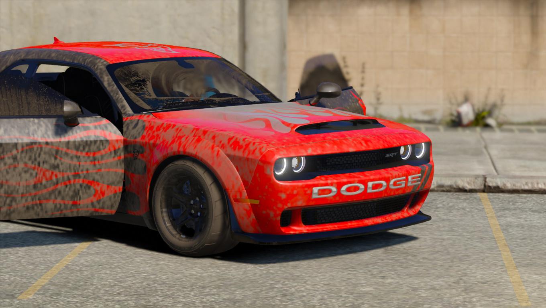 Dodge Challenger Demon Srt 2018 Add On Replace Analog