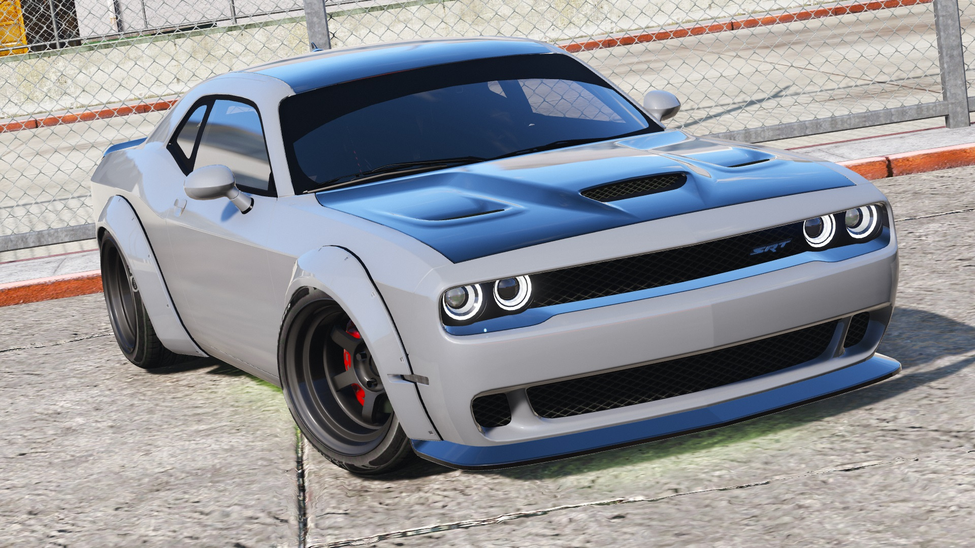 Dodge Challenger Hellcat Libertywalk The Fate Of The Furious Edition Add On Replace Gta5 Mods Com