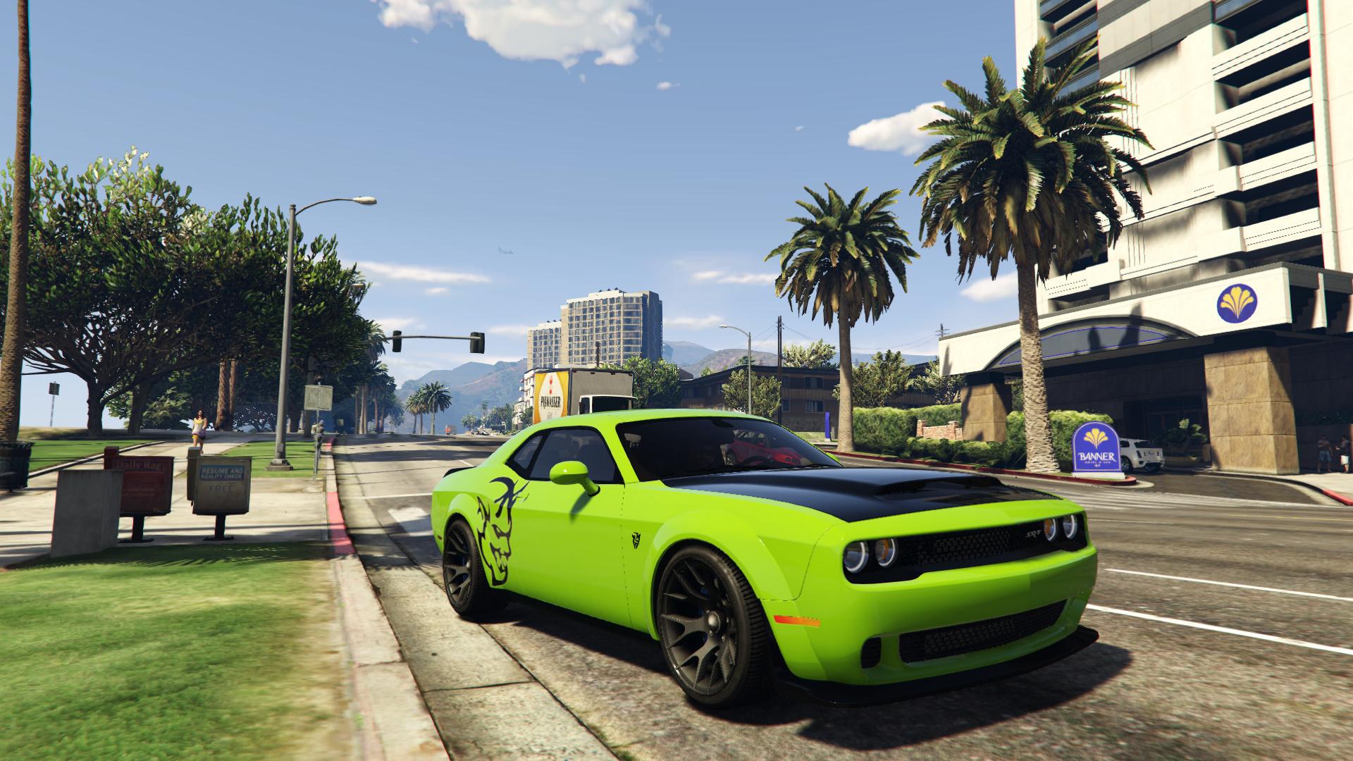 Dodge Demon Hellcat Style Template Gta5 Mods Com