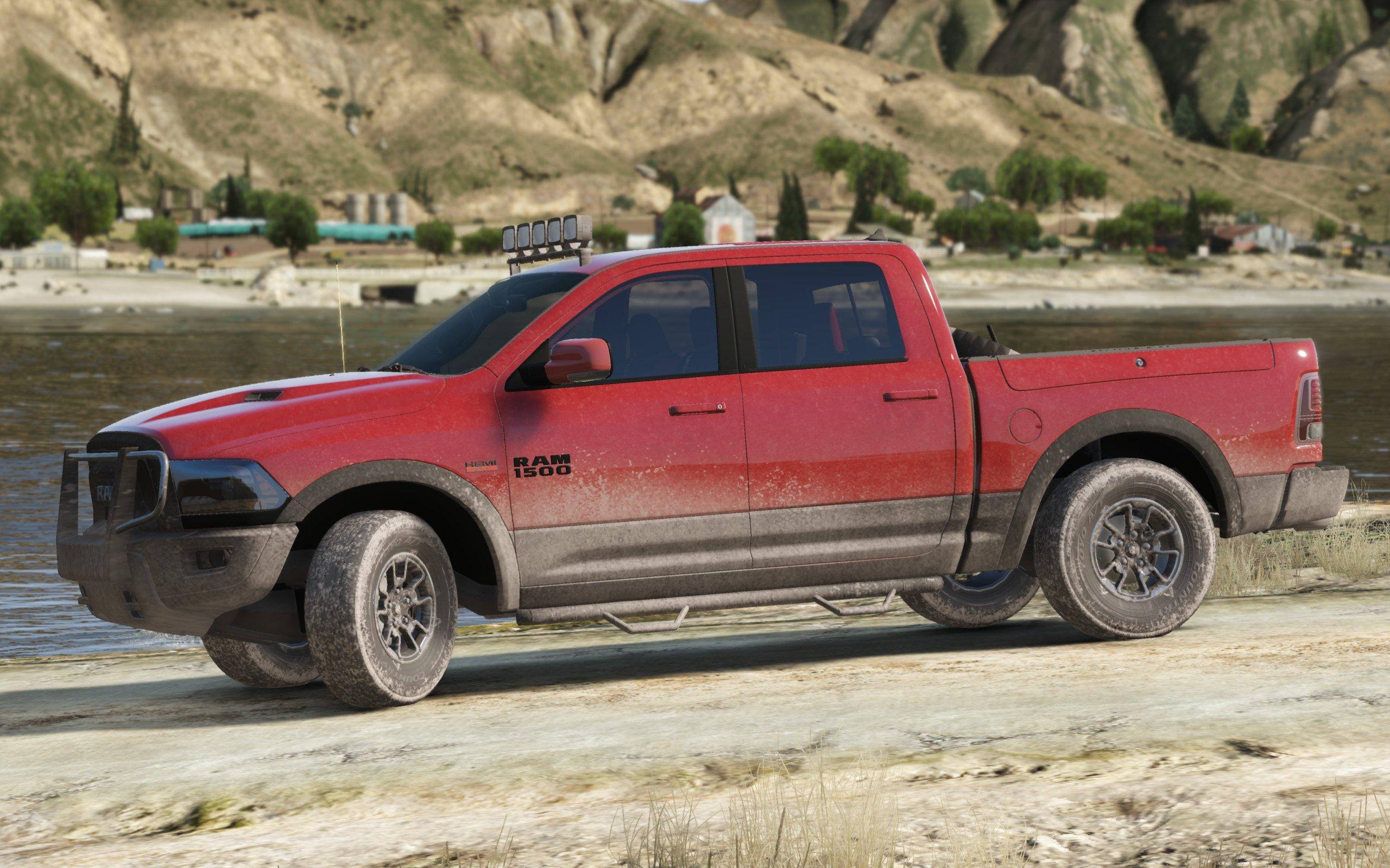2016 Dodge Ram Rebel Add On Replace Tuning Gta5 Mods Com