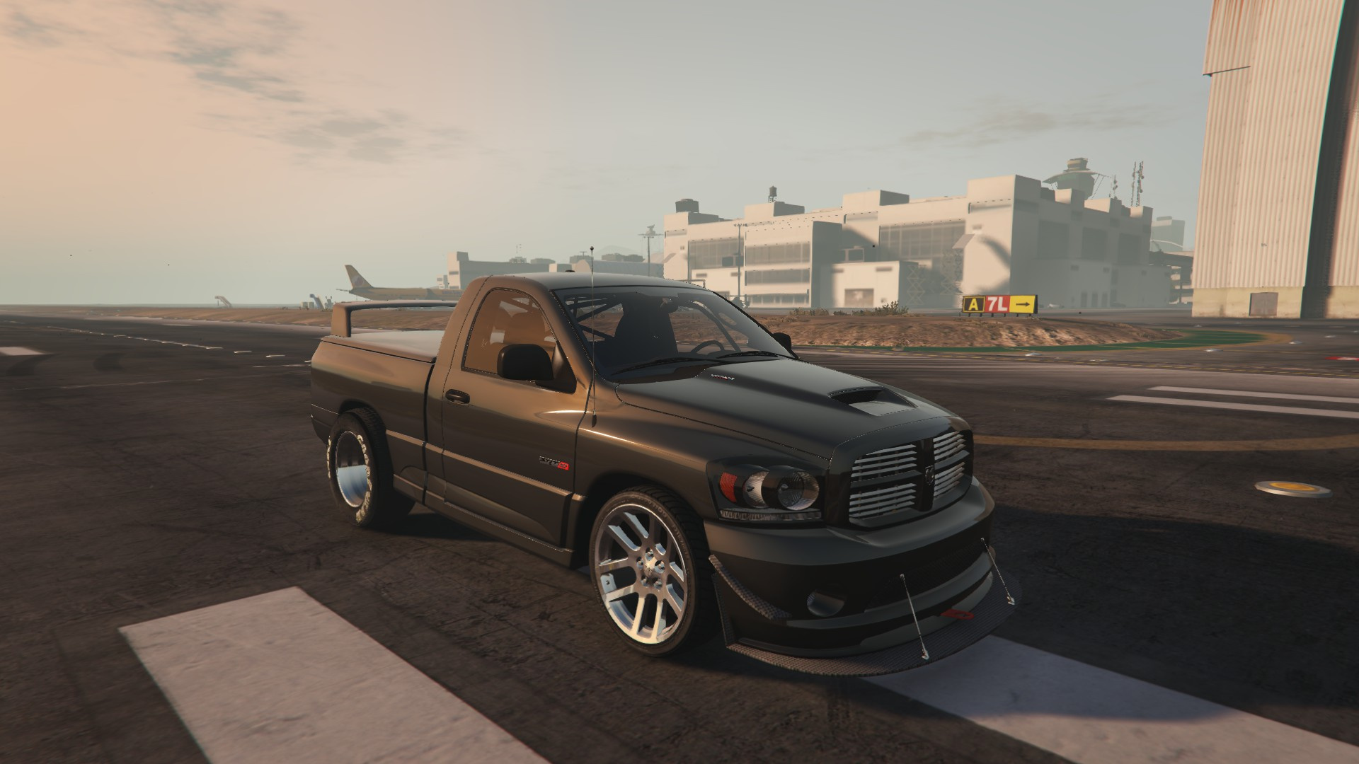 dodge ram srt 10 drag addon fivem gta5. Black Bedroom Furniture Sets. Home Design Ideas