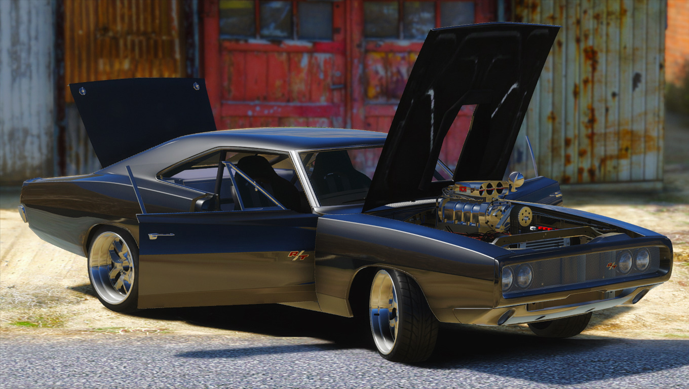Dom S 1970 Dodge Charger Furious 7 Working Blower Add On Lods