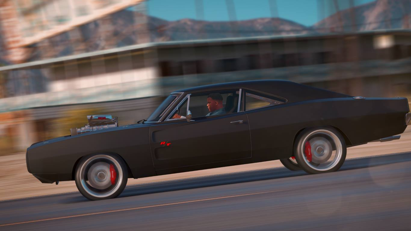 Dom S 1970 Dodge Charger Furious 7 Working Blower Add