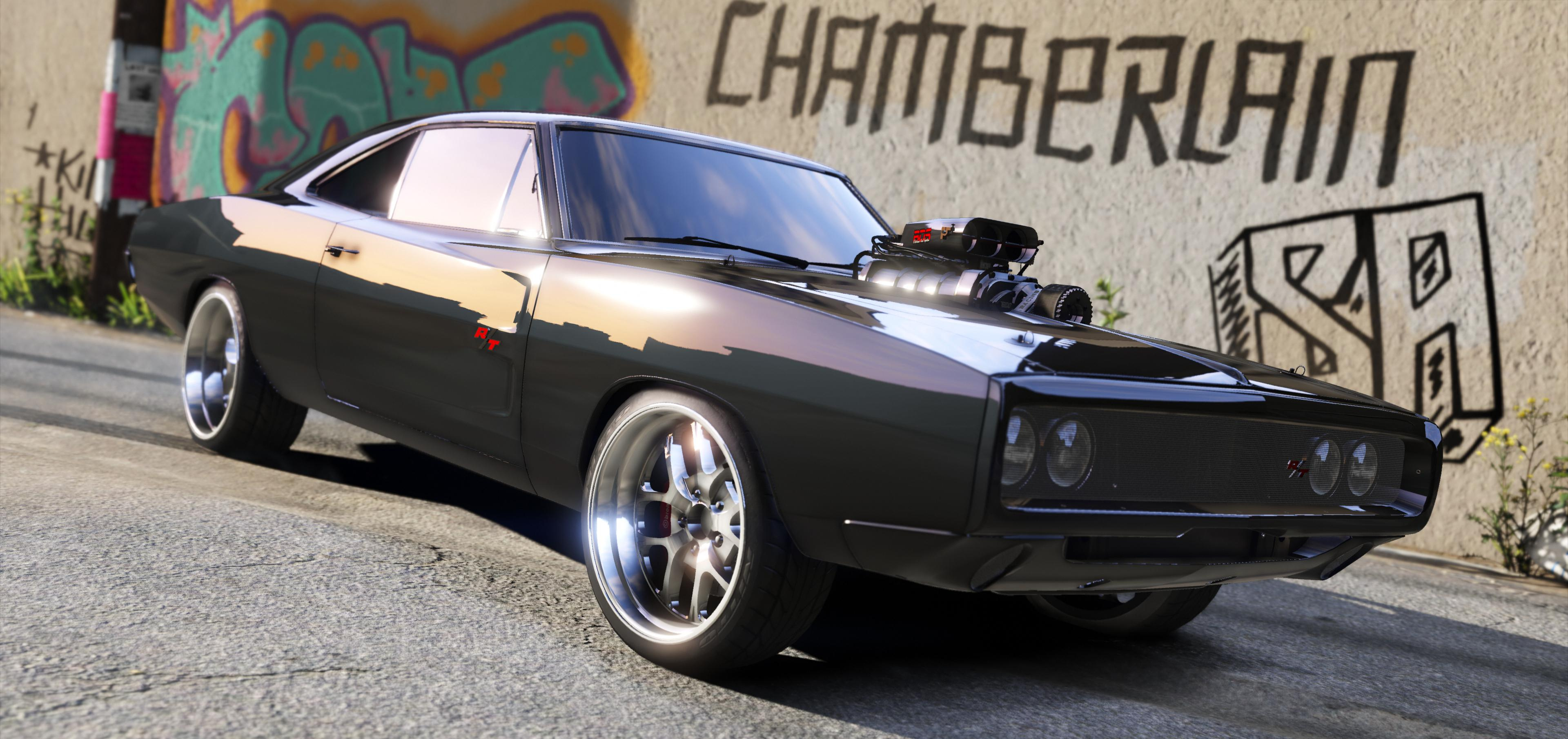 Dom S 1970 Dodge Charger Furious 7 Working Blower Add On Lods Gta5 Mods Com