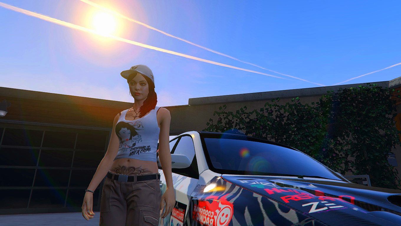 Drift Girl With Blue Eyes And New Tattoos Gta5 Mods Com