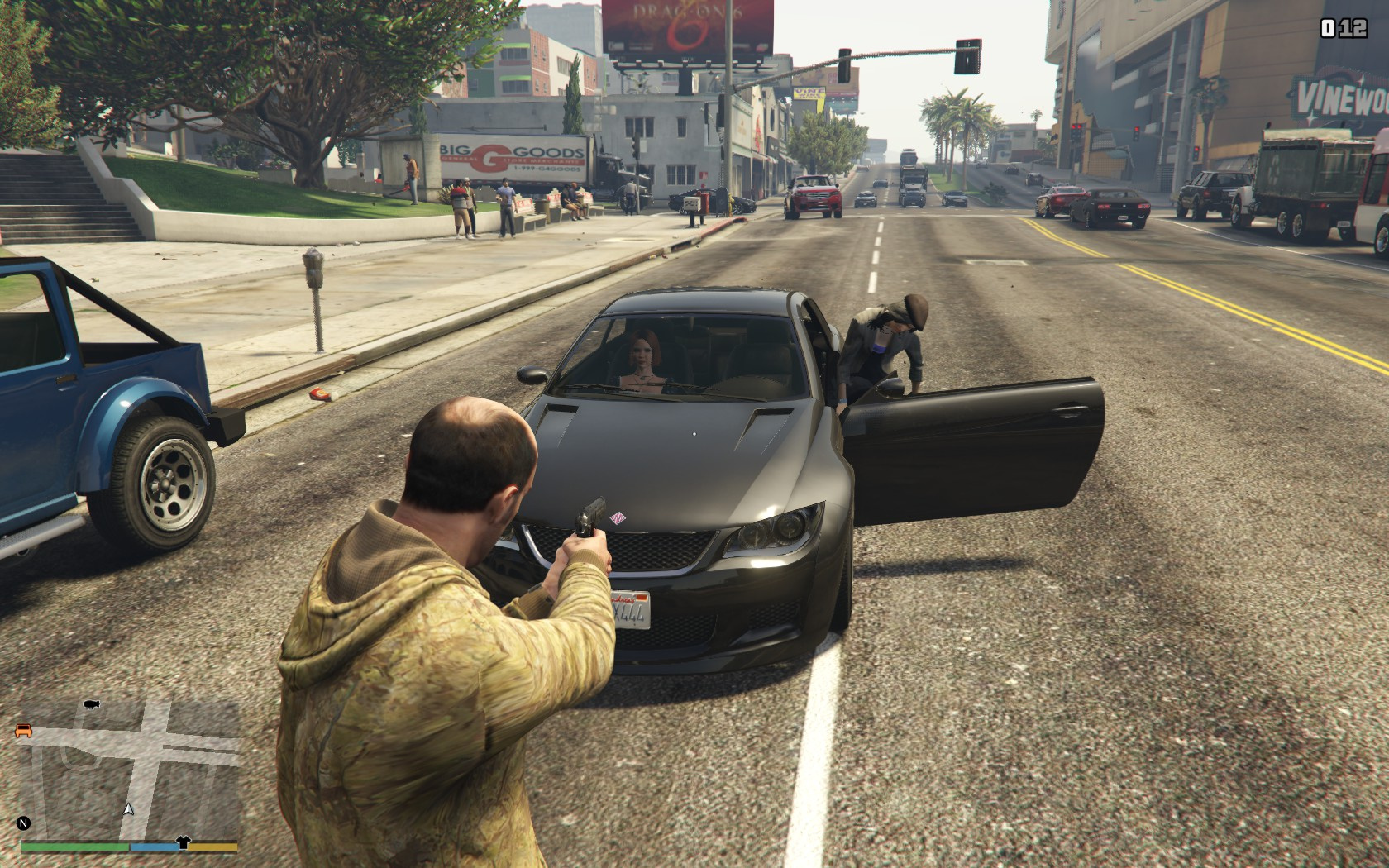 Driver Exits Vehicle When Targeted Net Gta5 Mods Com
