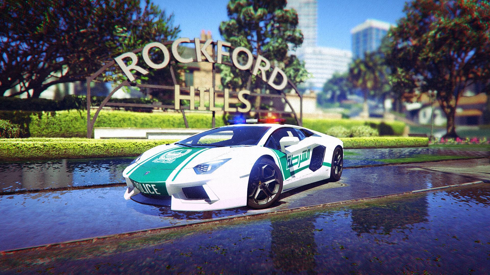 Dubai Police Lamborghini Aventador Gta5 Mods Com