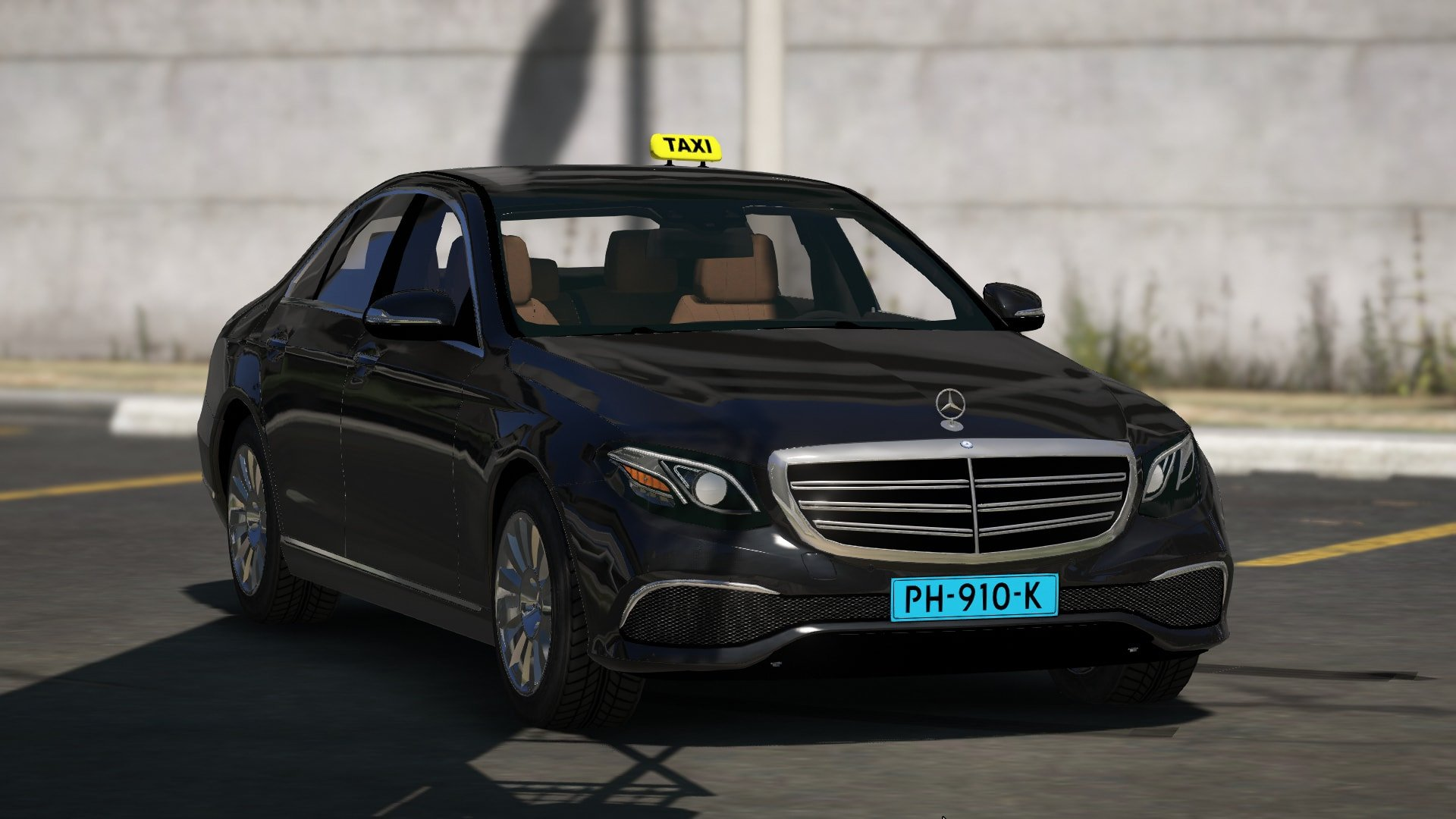 dutch mercedes-benz e-class 2015 taxi - gta5-mods