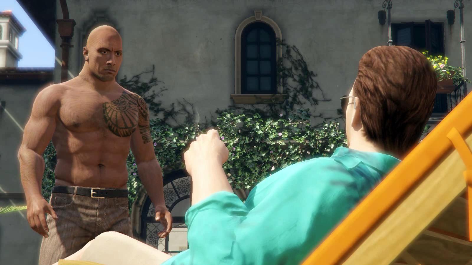 Dwayne Johnson and Michael Madsen [Player Mod] - GTA5-Mods com