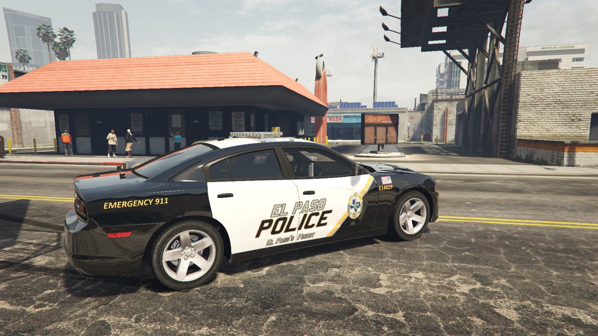 El Paso Police Skin for 13 Charger GTA5 Mods