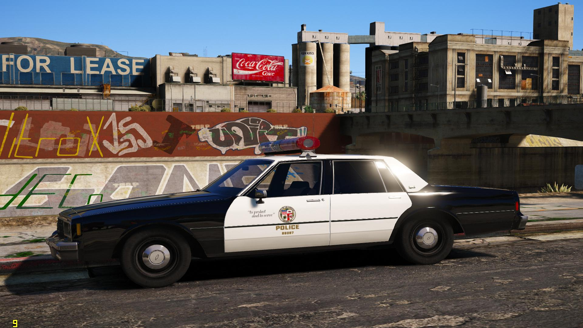els 1985 chevrolet impala 9c1 los angeles police department gta5. Black Bedroom Furniture Sets. Home Design Ideas