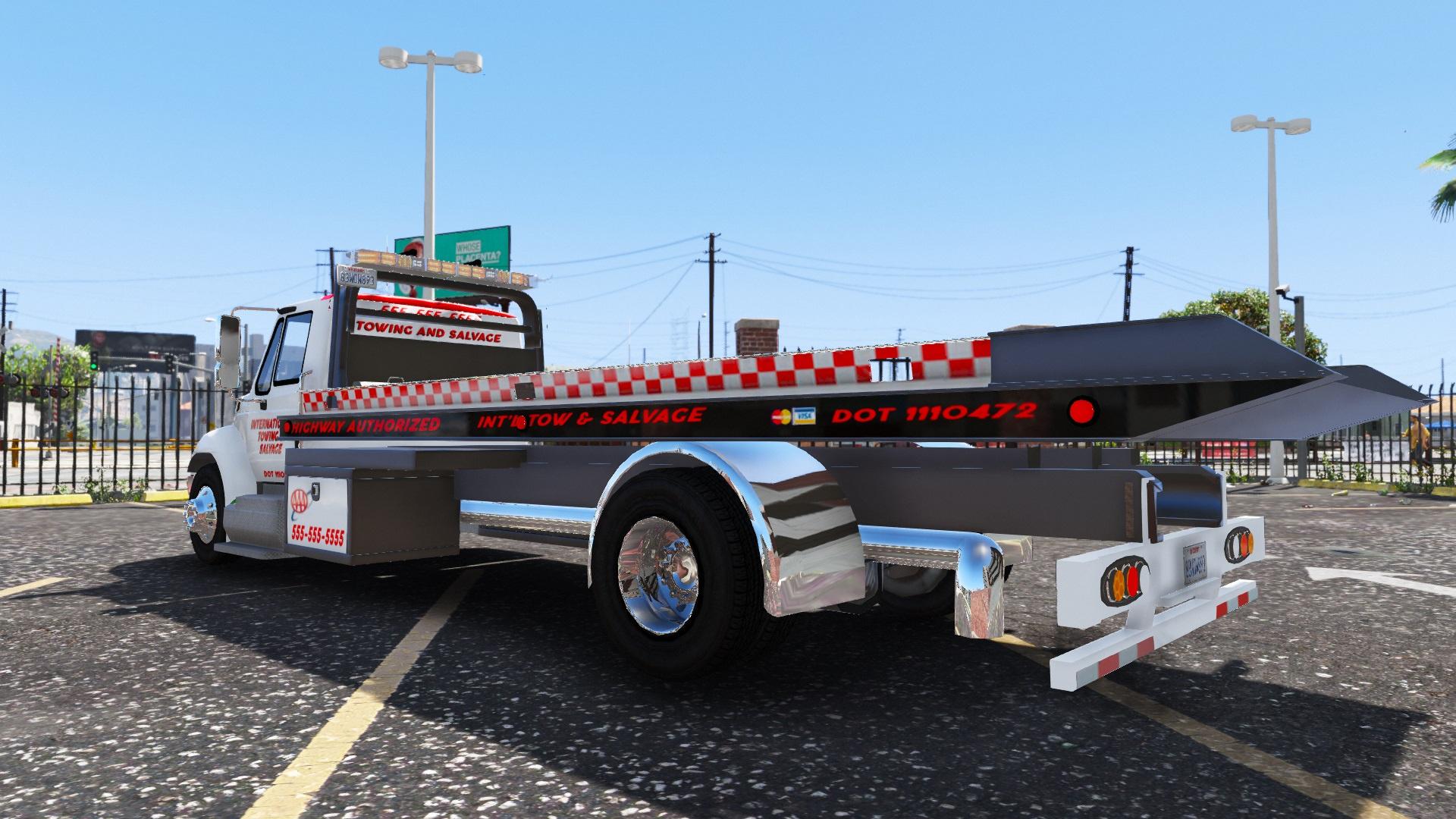 International Durastar Flatbed tow [ELS] [FiveM] [Add-on] - GTA5