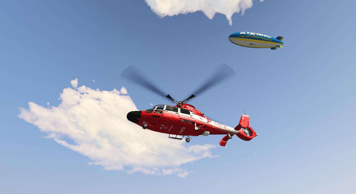 eurocopter  lsfd fire department helicopter gta modscom