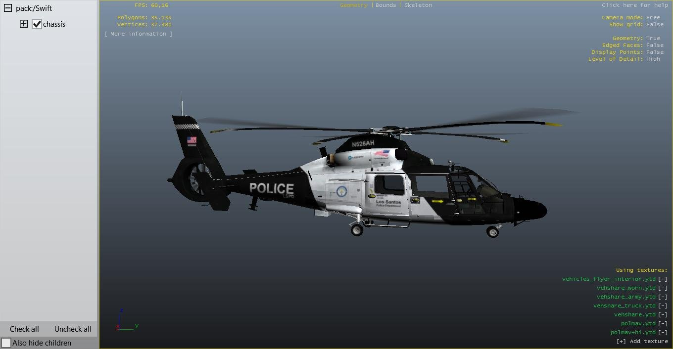 Eurocopter AS365 LSPD Police Helicopter - GTA5-Mods com