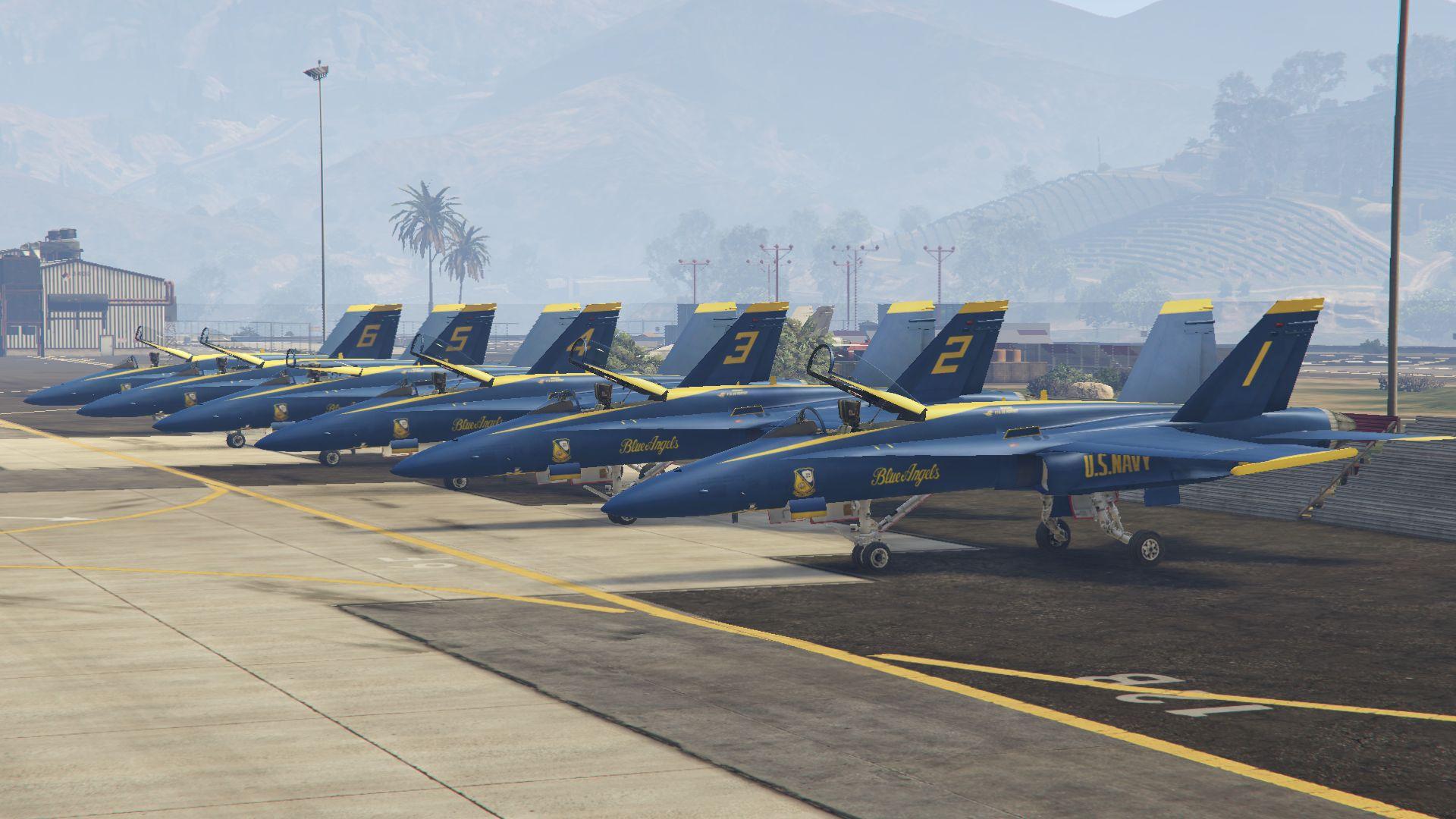 f/a-18c hornet blue angels us navy display team - gta5-mods