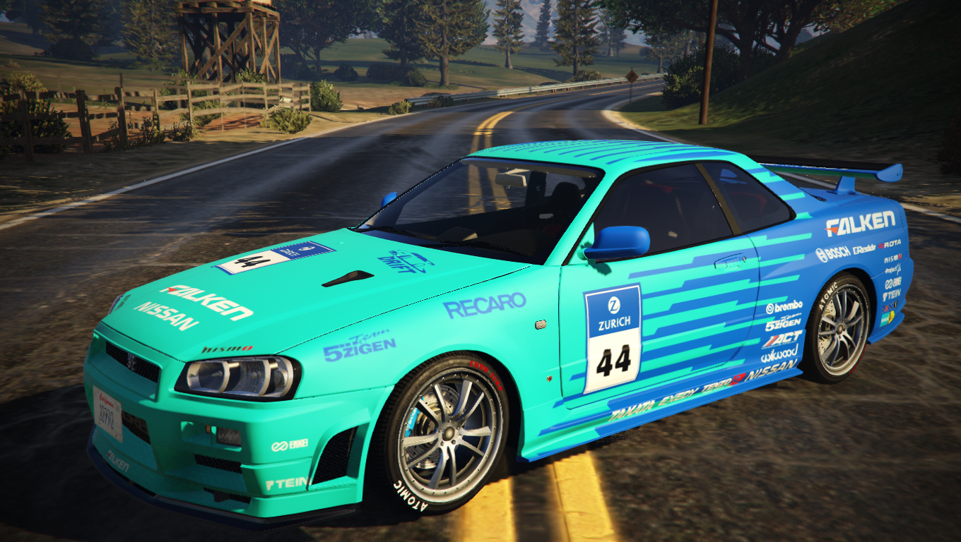 falken tire nissan skyline r34 livery gta5. Black Bedroom Furniture Sets. Home Design Ideas