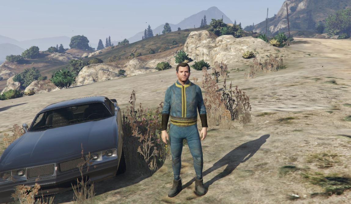 fallout vault suit for michael 111 gta5 mods com