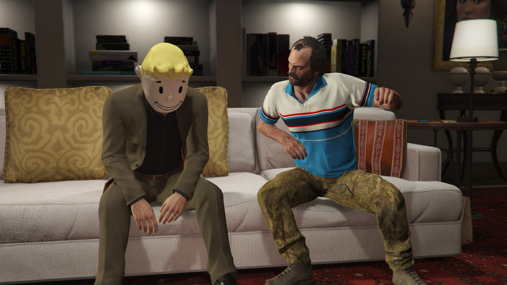 how to wear a helmet and mask in gta 5