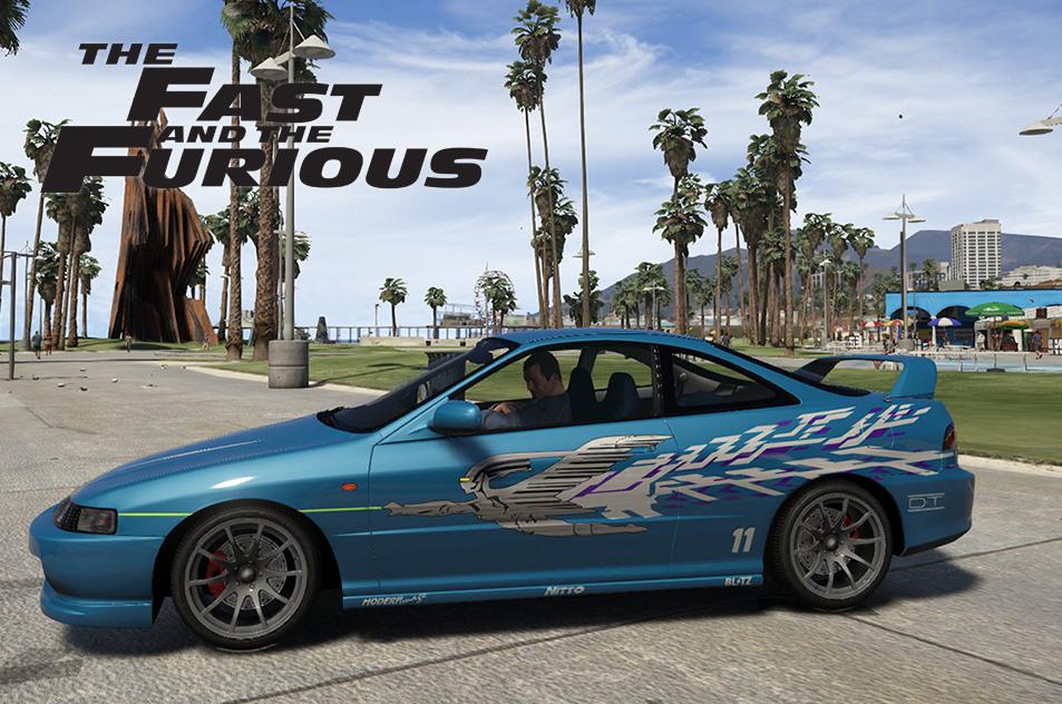 Fast And Furious Mias Acura Integra Vinyl GTAModscom - Acura integra mods