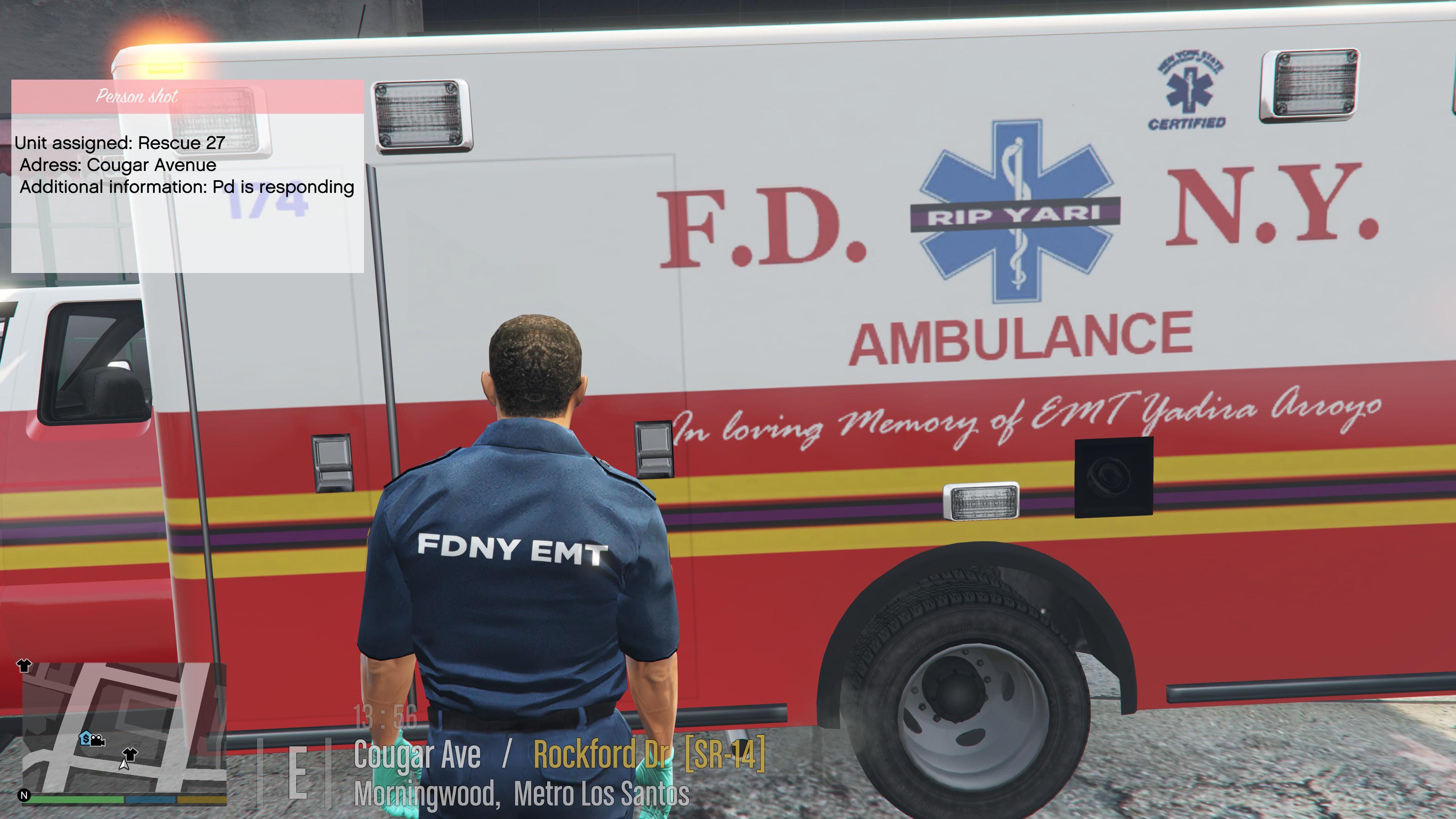 Fdny Emt And Paramedic Uniform Texture Gta5 Mods Com